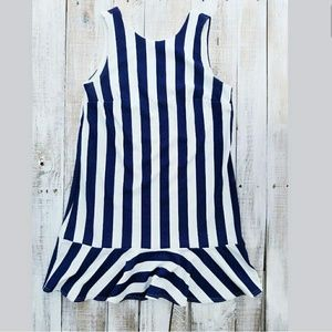 ASOS size 10 Navy and White Stripe blue Dress vnec